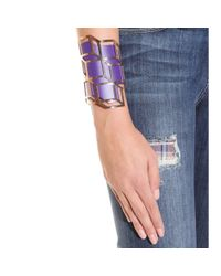 Pierre Hardy - Purple Gold-plated Lacquered-brass Cuff - Lyst