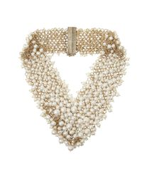 Rosantica | White Osiris Golddipped Pearl Necklace | Lyst
