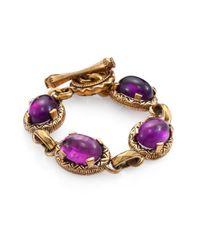 Stephen Dweck - Purple Amethyst Cabochon Bracelet - Lyst