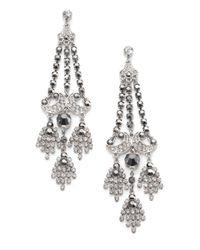 ABS By Allen Schwartz - Metallic Faceted Chandelier Earrings - Lyst