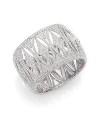 Adriana Orsini | Metallic Pave Legacy Frame Bangle Bracelet | Lyst
