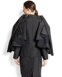Comme des Garçons - Black Doublebreasted Cape Blazer - Lyst