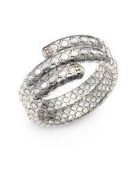 John Hardy | Metallic 18K Yellow Gold & Sterling Silver Dragon Double-Wrap Bracelet | Lyst