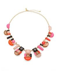 kate spade new york | Multicolor Geometric Stone Necklace | Lyst