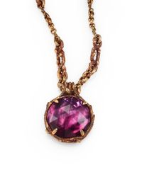 Stephen Dweck - Metallic Rock Crystal and Plum Motherofpearl Necklace - Lyst