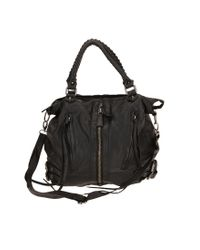 Silence + Noise | Black Zip-front Moto Shoulder Bag | Lyst