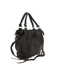 Silence + Noise   Black Zip-front Moto Shoulder Bag   Lyst