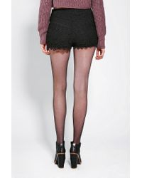 Urban Outfitters | Black Kimchi Blue Anthea Lace Tap Shorts | Lyst