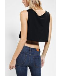 Urban Outfitters - Black Lil Bub Scoop Neck Tank Top - Lyst
