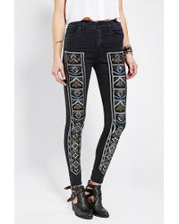 Urban Outfitters | Multicolor Bdg Embellished Twig Highrise Jean | Lyst