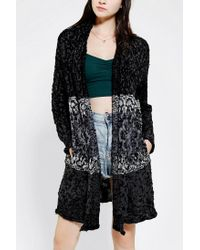Urban Outfitters | Black Ecote Intarsia Cozy Cardigan | Lyst
