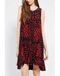 Urban Outfitters | Red Ecote Nicole Skater Dress | Lyst