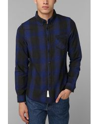 Urban Outfitters | Blue Native Youth Country Plaid Flannel Buttondown Shirt for Men | Lyst