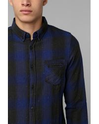 Urban Outfitters - Blue Native Youth Country Plaid Flannel Buttondown Shirt for Men - Lyst