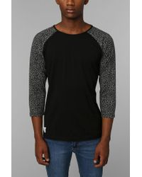 Urban Outfitters | Black Native Youth Leopard Raglan Tee for Men | Lyst