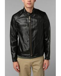 Urban Outfitters | Black Schott Worn Cafe Racer Leather Jacket for Men | Lyst