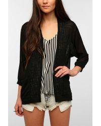 Urban Outfitters - Black Silence Noise Chiffon Cardigan - Lyst