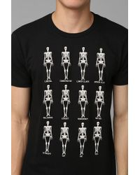 Urban Outfitters - Black Skeleton Unity Tee for Men - Lyst