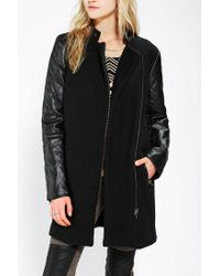 Urban Outfitters | Black Sparkle Fade Teen Queen Wool Moto Coat | Lyst