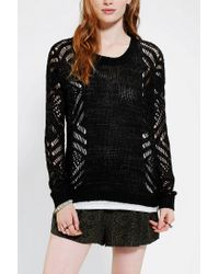 Urban Outfitters | Black Staring At Stars Openstitch Sweater | Lyst
