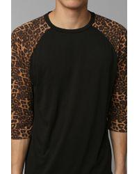 Urban Outfitters | Black Vans Cheetah Raglan Tee for Men | Lyst