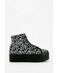 Urban Outfitters - White Jeffrey Campbell Hiya Words Flatform sneaker - Lyst