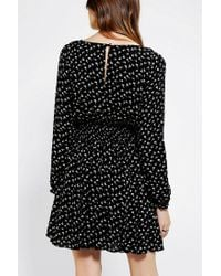 Urban Outfitters - Black Isabella Smocked Waist Mini Dress - Lyst