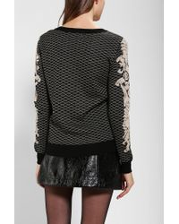 Urban Outfitters - Black Lucca Couture Baroque Intarsia Sweater - Lyst