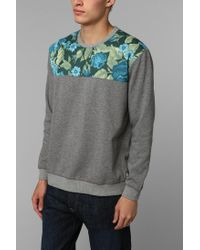 Urban Outfitters - Blue Deter Floral Pullover Sweatshirt for Men - Lyst