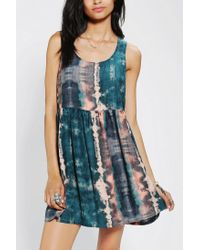 Urban Outfitters | Blue Ecote Peekaboo Babydoll Dress | Lyst