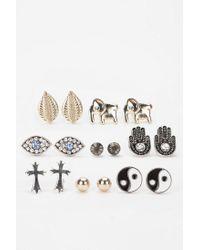 Urban Outfitters - Metallic Treasure Island Earring Set - Lyst
