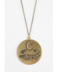 Urban Outfitters - Metallic Etched Initial Pendant - Lyst