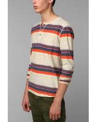 Urban Outfitters | White Koto Printed Henley Shirt for Men | Lyst