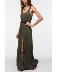 Urban Outfitters - Green Silence Noise Doubleslit Maxi Dress - Lyst
