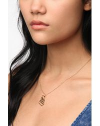Urban Outfitters - Metallic Kris Nations State Charm Necklace - Lyst