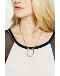 Urban Outfitters - Metallic Adorn By Sarah Lewis Lucky Horseshoe Necklace - Lyst