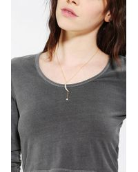 Urban Outfitters - Metallic Pave Moon Charm Necklace - Lyst