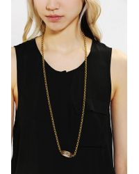 Urban Outfitters - Metallic Pocket Watch Necklace - Lyst