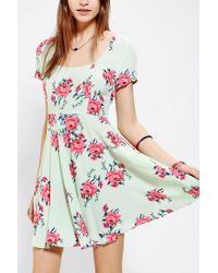 Urban Outfitters | Green Pins and Needles Floral Crossback Dress | Lyst