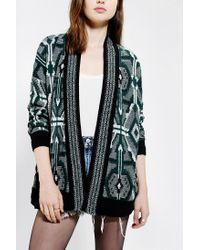Urban Outfitters | Green Staring At Stars Diamond Openfront Cardigan | Lyst