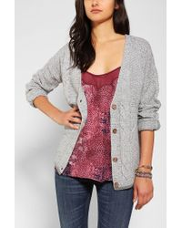 Urban Outfitters | Gray Coincidence Chance Mixedcable Slouchy Cardigan | Lyst