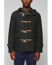 Urban Outfitters - Gray Cpo Duffle Coat for Men - Lyst