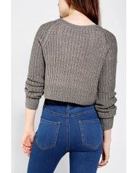 Urban Outfitters - Gray Kimchi Blue Shaker Cropped Sweater - Lyst