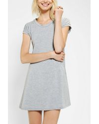 Urban Outfitters | Gray Lenni Knit Lace Up Back Tee Dress | Lyst