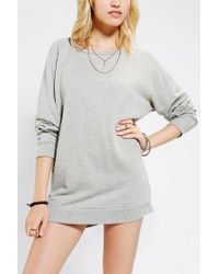 Urban Outfitters | Gray Sparkle Fade Pullover Tunic Sweatshirt | Lyst