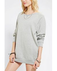 Urban Outfitters - Gray Sparkle Fade Pullover Tunic Sweatshirt - Lyst