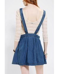 c9e79768dd Urban Outfitters Coincidence Chance Pleated Denim Overall Skirt in ...