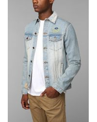 Urban Outfitters - Blue Unif Fu Denim Jacket for Men - Lyst