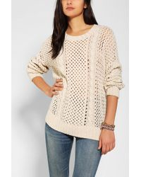 Urban Outfitters | Natural Dra Stockholm Openknit Sweater | Lyst
