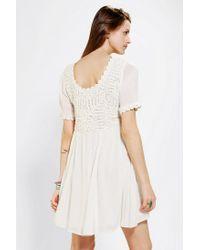 Urban Outfitters - White Minkpink X Uo Hazel Crochet top Dress - Lyst